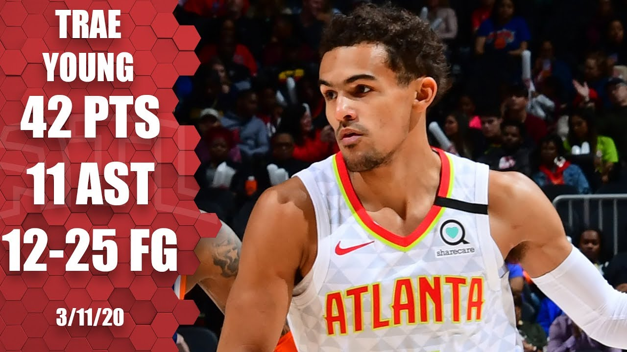 Trae Young goes off for 42 points in Hawks vs. Knicks | 2019-20 NBA Highlights