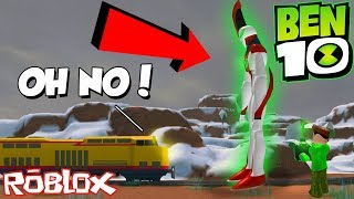 *OMG* BEN 10 ALIEN ROBS THE NEW TRAIN IN ROBLOX JAILBREAK!? (Ben 10 Jailbreak)