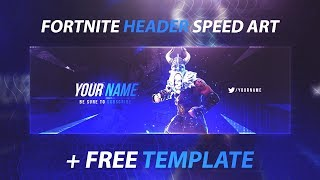 FREE Fortnite Twitter Header Download - Photoshop Speed Art