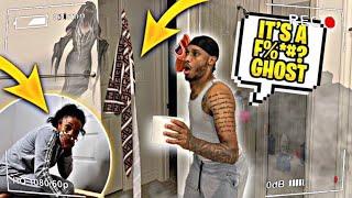 HILARIOUS Haunted Bathroom PRANK On My Boyfriend!