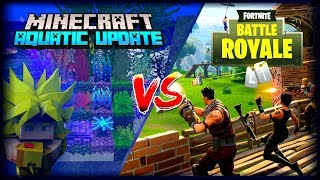 FORTNITE VS MINECRAFT (PE), THIS AND OTHER GAMES BATTLE ROYALE THE CAUSE OF HIS FALL?