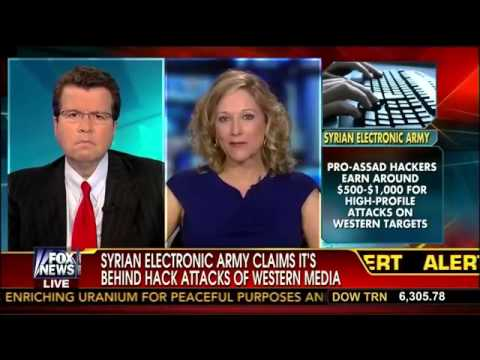 Syrian Electronic Army Behind Hack Attacks on Western Media   Jessie Jane Duff   Cavuto   8 28 13