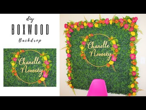 diy-boxwood-hedge-backdrop-🌷💖🌹-weddings,-birthday-party,-baby-shower,-floral-wall-decor