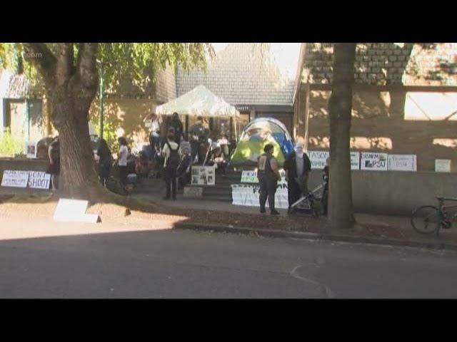 PSU students rally to disarm campus police
