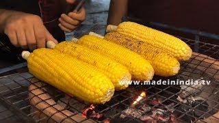 Sweet Corn Fry on Cob | Bangkok Street Food | my3streetfoods
