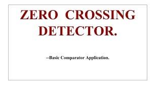 Zero Crossing Detector by IIT .