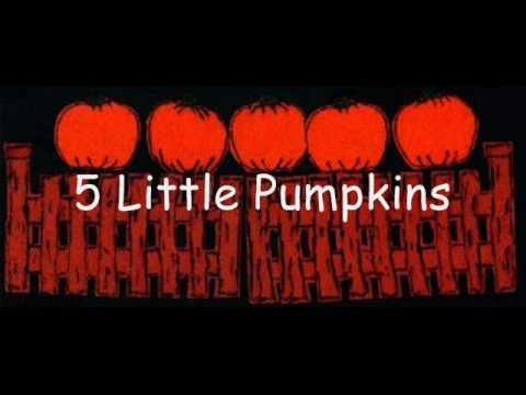 5 Little Pumpkins - YouTube