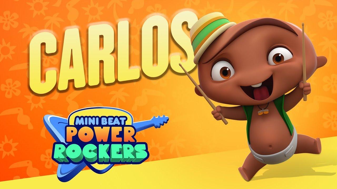 Conoce A Carlos El Baterista Mini Beat Power Rockers Discovery