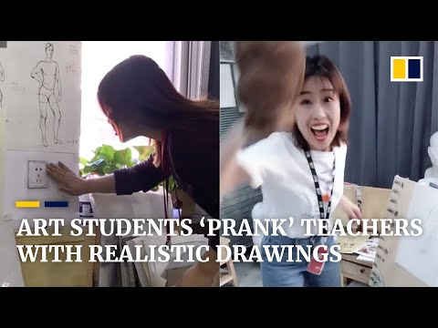 Art Students In China 'prank' Teachers With Their Realistic Drawings