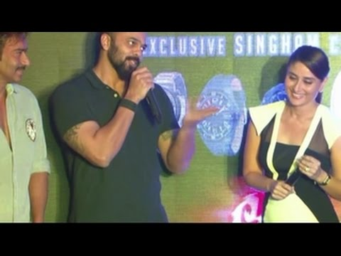 Kareena Kapoor & Ajay Devgn talk on Yo Yo Honey Singh song Aata Majhi Satakli | Singham Returns