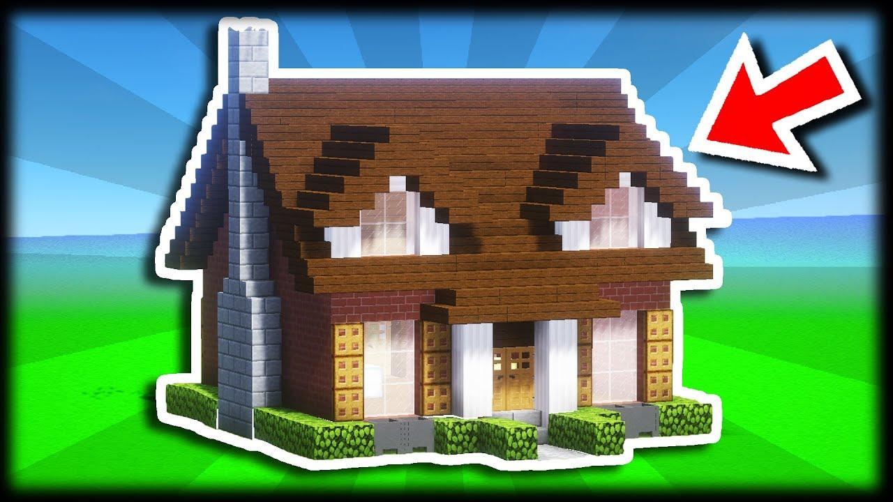Comment Construire Une Maison Facilement Tuto Build Minecraft Youtube