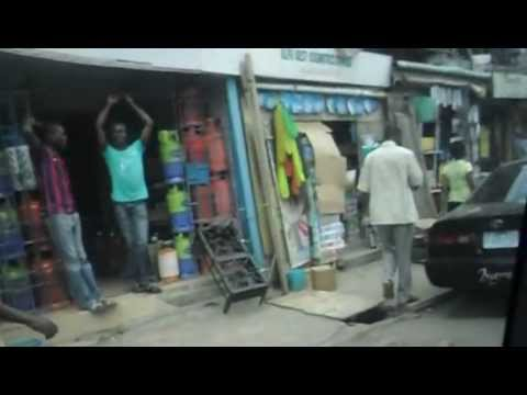 Drive through Lagos Market
