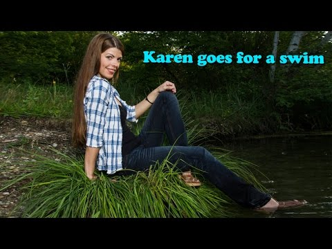 Wetlook - Karen goes for a swim