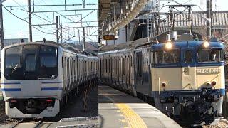 2021/02/04 【廃車回送】E217系 Y-48編成矢川駅 | JR East: E217 Series Y-48 Set to be Scrapped at Yagawa