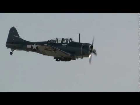 Douglas SBD Dauntless diving pass at Warbirds Over Monroe Air Show 2012 Saturday & Sunday