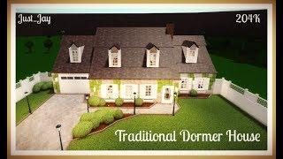 Traditional Dormer House: 204K | Roblox: Welcome to Bloxburg Speedbuild