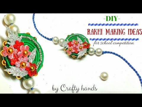 easy rakhi making idea using foam sheet|Diy Rakhi|quick rakhi idea for school competition