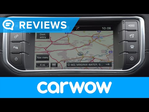 Range Rover Evoque SUV 2018 infotainment and interior review   Mat Watson Reviews