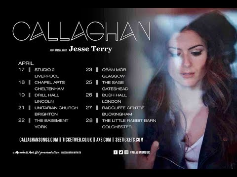 Callaghan on tour in UK - Spring 2018