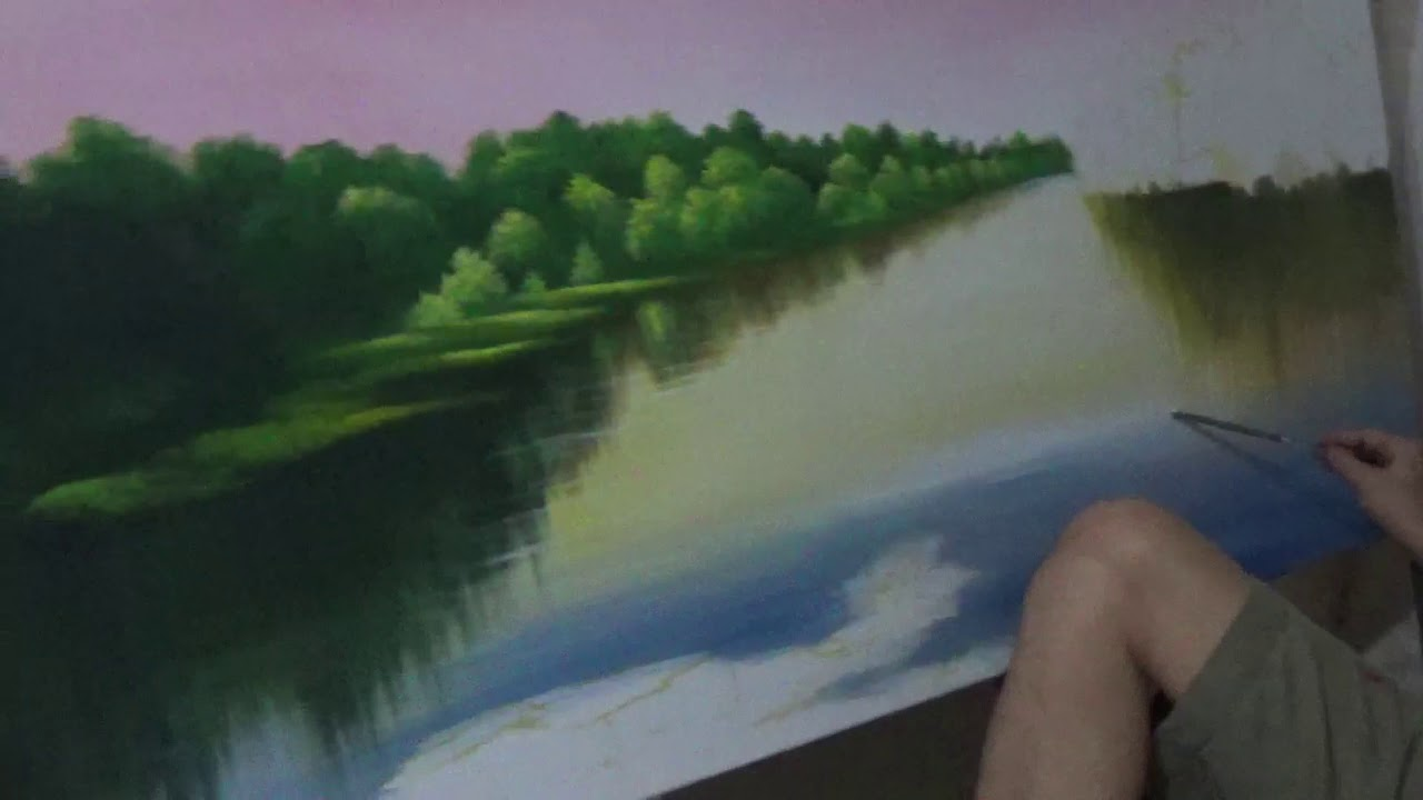 Ngồi tỉa cảnh sông nước: Hoạ sĩ Tứ vẽ tranh cực chất