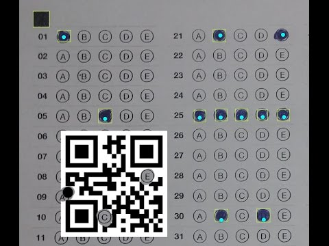 How to recognize answer sheet multiple choice on android - OMR and QR code  reader - Cham trac nghiem
