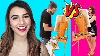 😱 تحدي خليت رسام ورسامة يرسموني | الفائز يكسب $1000