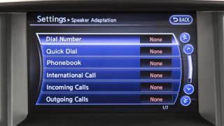 2015 Infiniti QX70 - Speaker Adaptation (if so equipped)