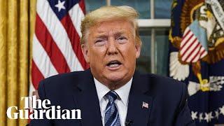 Trump announces travel ban from Europe to the US in bid to stem coronavirus