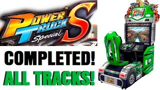 Power Trucks COMPLETED! ALL TRACKS!! Arcade Truckin Game