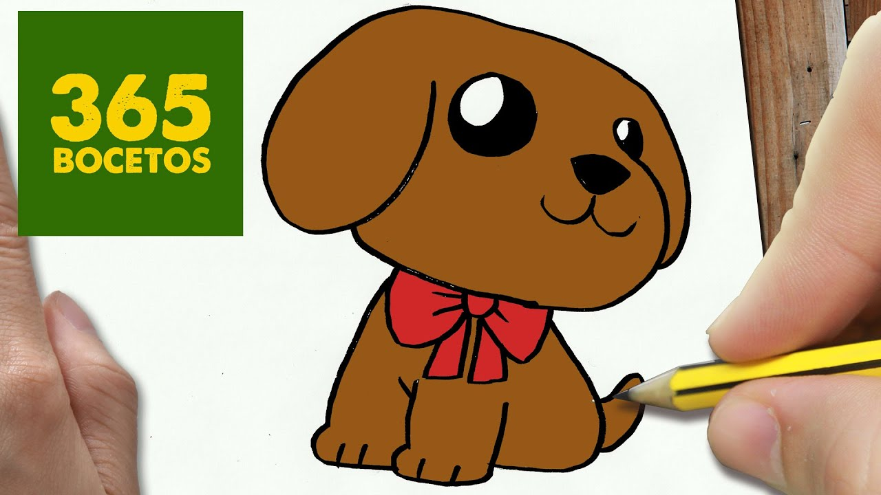 Como Dibujar Un Perro Kawaii Paso A Paso Os Enseñamos A Dibujar Un Perro Fácil Para Niños