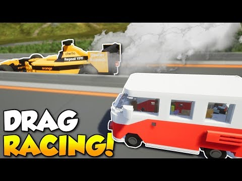 MULTIPLAYER DRAG RACING & CRASHES! - Brick Rigs Multiplayer Gameplay Challenge & Crashes