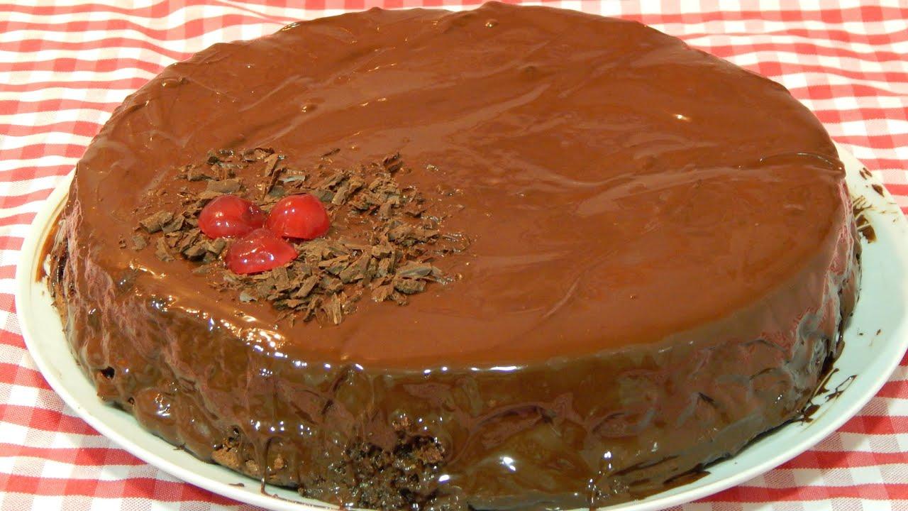 como hacer una torta de chocolate facil