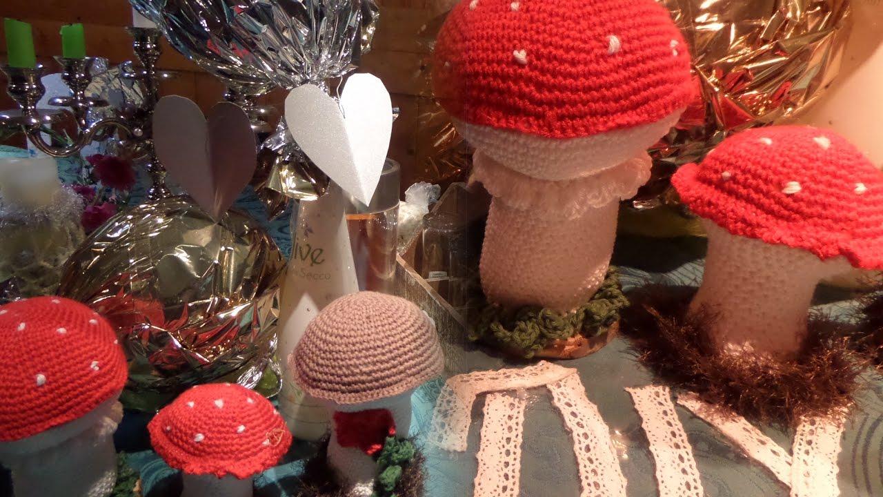 Diy Glücks Pilze Häkelnglücksbringer Selber Machenverschiedene