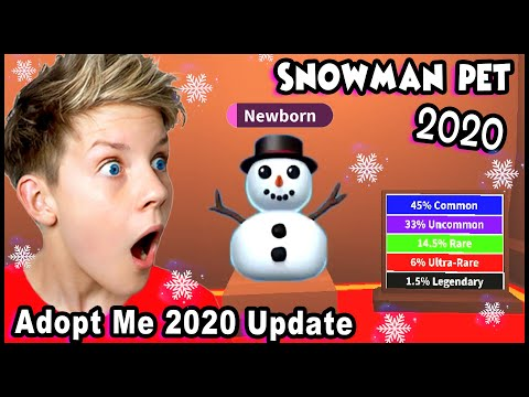 *CONFIRMED* How To Get NEW SNOWMAN PET For FREE in Adopt Me!! Christmas Winter Pets in Adopt Me!!