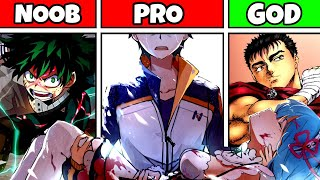 NOOB vs PRO vs GOD - Anime Main Characters