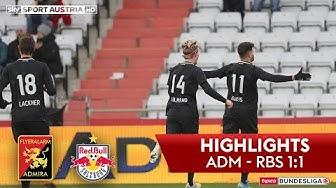 tipico Bundesliga, 16. Runde: FC Flyeralarm Admira - Red Bull Salzburg 1:1 (1:0)