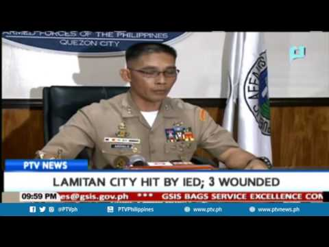 Lamitan City hit by IED; 3 wounded