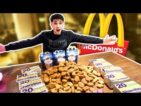 1000 MCDONALD'S CHICKEN NUGGETS CHALLENGE!! IMPOSSIBLE
