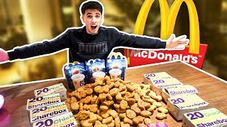 1000 MCDONALD'S CHICKEN NUGGETS CHALLENGE!! (IMPOSSIBLE)