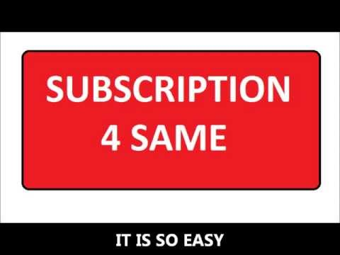 SUBSCRIPTION FOR SAME
