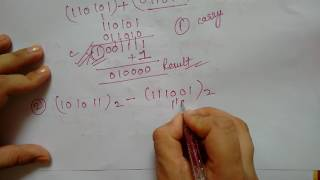 binary subtraction using 1' s complement