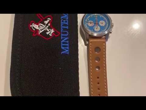 Minuteman Parker Chronograph Watch in Blue.