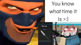 When you main too much spy on TF2 - Roblox Arsenal
