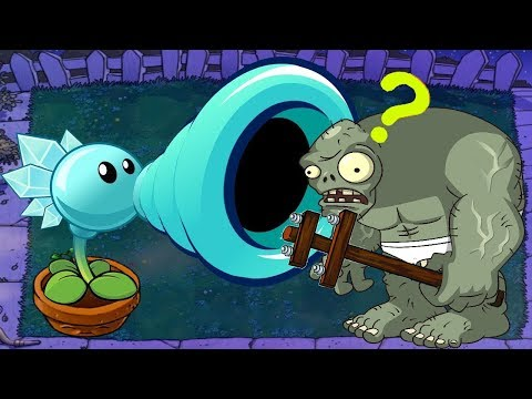 1 Snow Pea Vs 999 Gargantuar - Plants Vs Zombies Minigames Zombotany 2