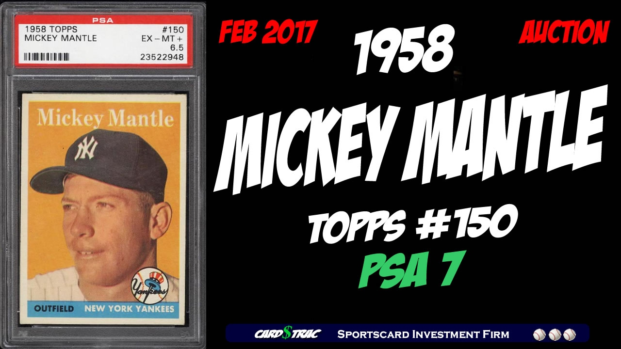 1958 Mickey Mantle Topps 150 For Graded Psa 7 Pwcc Premier Auctions