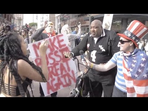 "Common Sense Black Guy ""Big Joe"" Wrecks SJWs at Los Angeles Women's March (REACTION) #BigJoe"