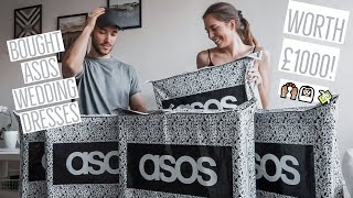 BOUGHT WEDDING DRESSES FROM ASOS WORTH £1000 !! (Wedding Dress Reveal)  💸💍❤️