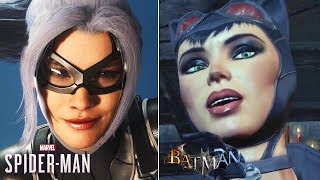 Black Cat vs Catwoman - Seduce, Betray, Steal & Death- Spider-Man PS4 & Batman