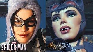 Black Cat vs Catwoman - Seduce, Betray, Steal & Death- Spider-Man PS4 & Batman