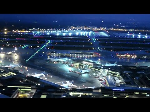 Frankfurt Airport. Early Morning Landing. Nice view. Flight LH 305. Airbus A320